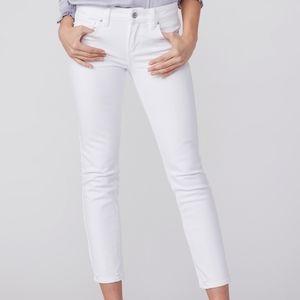 PAIGE Skyline Straight Ankle Crisp White Jeans 29